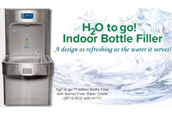H2O to go! Bottle Filler With Water Cooler